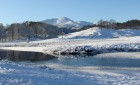 Elter Water in the snow – a true winter wonderland, a 20 minute walk from Tarn House.